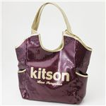kitson(キットソン) スパンコール バッグ SEQUIN BAG Burgundy×Gold