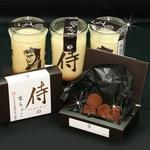 「侍のプリン3個」と生チョコのプレミアムセット