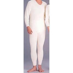 ひだまり肌着 紳士丸首長袖&ズボン下セット Lサイズ