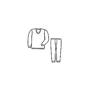 ひだまり肌着 紳士U首長袖&ズボン下セット Lサイズ