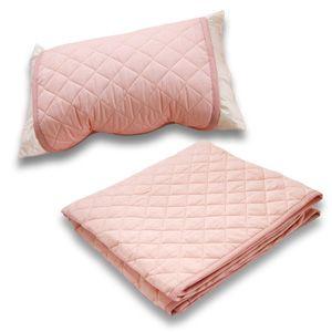 クールレイ(R) パッドシーツ + 枕パッド ダブル ピンク