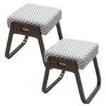 木製スツール「座・楽椅子」 2脚組