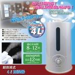 超音波式加湿器 【4L/8〜12畳向け】 連続使用時間約12時間 安全機能付きの詳細ページへ