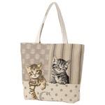 ゴブラン猫柄トートバッグ ネコ2匹タイプの詳細ページへ