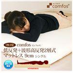 Comfos(コンフォス) 低反発+波形高反発 2層式マットレス 9cm シングル