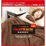 Heat Warm(ヒートウォーム) 発熱あったか2枚合わせ毛布 シングル ベージュ