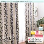 窓を飾るカーテン(デザインとサイズが選べる8000パターン)インファラ GREN(グレン) 遮光2級 遮熱 保温 形態安定 (AL) 幅100cm×丈215cm(2枚組) グリーン