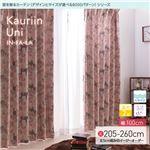 窓を飾るカーテン(デザインとサイズが選べる8000パターン)インファラ Kauriin Uni(カウリイン ウニ) 遮光2級 はっ水(防汚) 形態安定 (HZ) 幅100cm×丈255cm(2枚組) ピンク