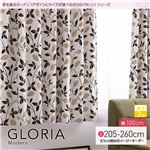窓を飾るカーテン(デザインとサイズが選べる8000パターン)モダン GLORIA(グロリア) 遮光2級 (AL) 幅100cm×丈205cm(2枚組) ブラウン