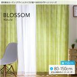 窓を飾るカーテン(デザインとサイズが選べる8000パターン)ナチュラル BLOSSOM(ブロッサム) 遮光2級 (MZ) 幅150cm×丈100cm(2枚組) グリーン