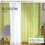 窓を飾るカーテン(デザインとサイズが選べる8000パターン)ナチュラル BLOSSOM(ブロッサム) 遮光2級 (MZ) 幅200cm×丈160cm(1枚) グリーン