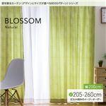 窓を飾るカーテン(デザインとサイズが選べる8000パターン)ナチュラル BLOSSOM(ブロッサム) 遮光2級 (MZ) 幅200cm×丈260cm(1枚) グリーン