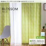 窓を飾るカーテン(デザインとサイズが選べる8000パターン)ナチュラル BLOSSOM(ブロッサム) 遮光2級 形態安定 (MZ) 幅200cm×丈220cm(1枚) ブルー