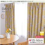 窓を飾るカーテン(デザインとサイズが選べる8000パターン)ナチュラル DAISY(デイジー) 遮光2級 (AL) 幅100cm×丈125cm(2枚組) イエロー