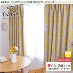 窓を飾るカーテン(デザインとサイズが選べる8000パターン)ナチュラル DAISY(デイジー) 遮光2級 (AL) 幅100cm×丈220cm(2枚組) イエロー