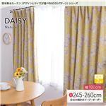 窓を飾るカーテン(デザインとサイズが選べる8000パターン)ナチュラル DAISY(デイジー) 遮光2級 (AL) 幅100cm×丈260cm(2枚組) イエロー