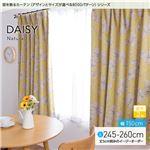 窓を飾るカーテン(デザインとサイズが選べる8000パターン)ナチュラル DAISY(デイジー) 遮光2級 (AL) 幅150cm×丈245cm(2枚組) イエロー