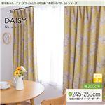 窓を飾るカーテン(デザインとサイズが選べる8000パターン)ナチュラル DAISY(デイジー) 遮光2級 (AL) 幅200cm×丈260cm(1枚) イエロー