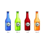 ウォーターバッテリー ボトルクロック【水で動くエコ時計】 TIME H2O オレンジ VS-301