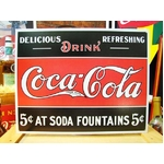 アメリカンブリキ看板 コカコーラ 5セントの源泉