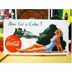 アメリカンブリキ看板 コカコーラ Now for a Coke