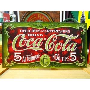 アメリカンブリキ看板 コカコーラ 1900年看板