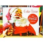 アメリカンブリキ看板 コカコーラ サンタのコーラタイム