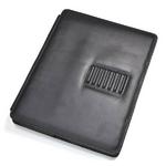 iPad ケース 高級感あふれる♪スタンド付きレザーケース(ブラック)