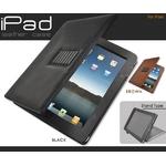 iPad ケース 高級感あふれる スタンド付きレザーケース(ブラウン)