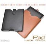 iPad ケース レザーポーチ(レザーケース) 高級感あふれるブラック