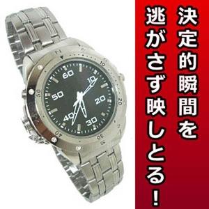 【小型カメラ】腕時計型 ビデオカメラ激安!高性能のシルバータイプ 8GB[BW-M2]