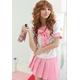 コスプレ 大きいリボンの女子制服 ピンク 学生服
