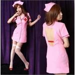 コスプレ ピンク看護婦のナース コスチューム 制服