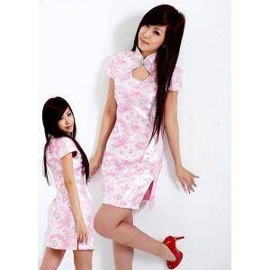 コスプレ ピンク色のチャイナドレス コスチューム