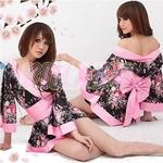 コスプレ 艶やかなピンク豪華着物 浴衣 可愛い和装ドレス