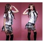コスプレ パニエ入り黒チャックスカートの女子制服 学生服