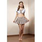 コスプレ 可愛い茶チェックの女子制服 学生服