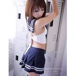 コスプレ 紺色スカートのセーラー服 女子制服 学生服