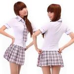コスプレ 4点セット チェック柄セーラー服 女子制服 学生服