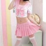 コスプレ ピンクのセーラー服 セクシー女子制服 学生服