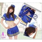コスプレ ブルーのセクシーセーラー制服 婦警