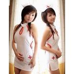 コスプレ キャップ付ナース制服ワンピ 看護婦のコスチューム