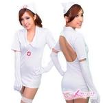 コスプレ ナース制服ワンピ5点セット 看護婦のコスチューム