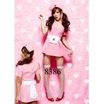 コスプレ 4点セットピンクのナース服 看護婦のコスチューム