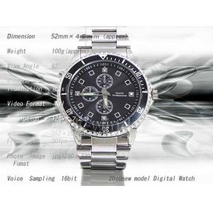 【小型カメラ】2010年最新モデル!腕時計型ビデオカメラ モーションセンサー搭載!