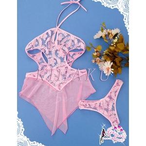 ピンクのランジェリー ベビードール&ショーツ コスチューム