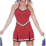 コスプレ 赤色のチアガール制服 コスチューム