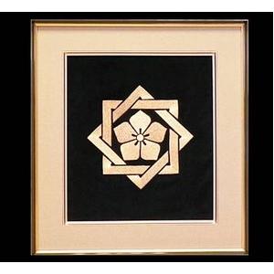 坂本 龍馬の家紋刺繍額