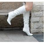 2010秋冬商品♪ 超可愛いロングブーツ☆ホワイト【34】(21.5cm~22.0cm)