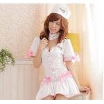 コスプレ ナース服*バニエ内臓スカートの看護婦コスプレ